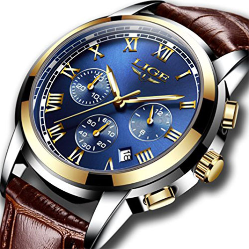 Men's Waterproof Dress Wristwatch