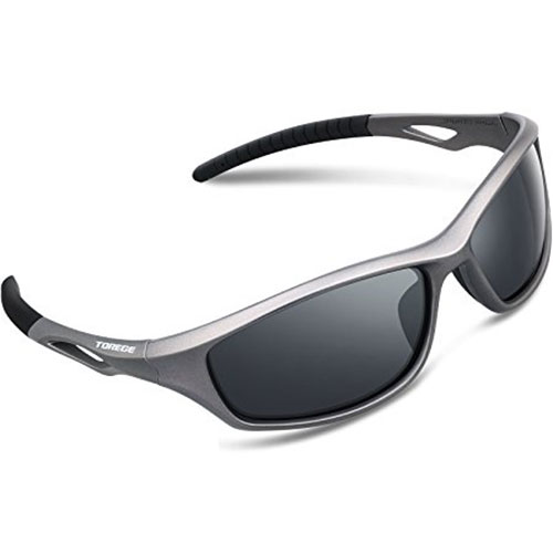 Torege Unisex Polarized Sports Sunglasses