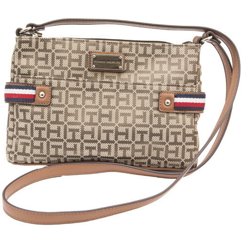 Ladies Cross Body By Tommy Hilfiger (Brown)