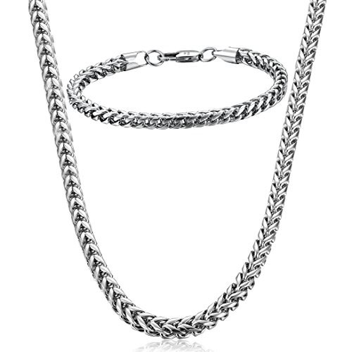 FIBO Stainless Steel Wheat Jewellery Set