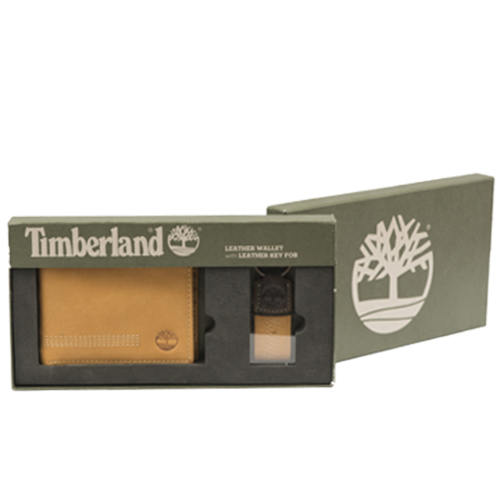 Men's Wallet & Keychain By Timberland (Tan)